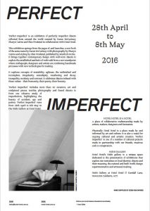 'Perfect Imperfect' room sheet. 297 X 420 mm. Risograph.