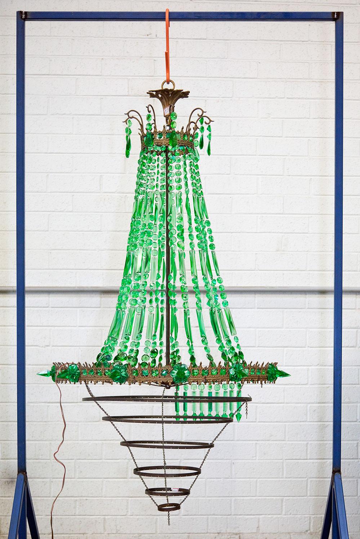 Green Chandelier. Found 2012