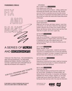 Talks and Workshops. Flyer, 210 x 99 mm.