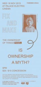 Ownership of Things. Flyer, 210 x 99 mm.