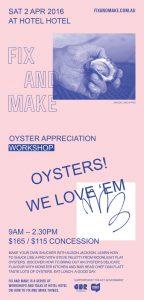 Oyster Appreciation. Flyer, 210 x 99 mm.