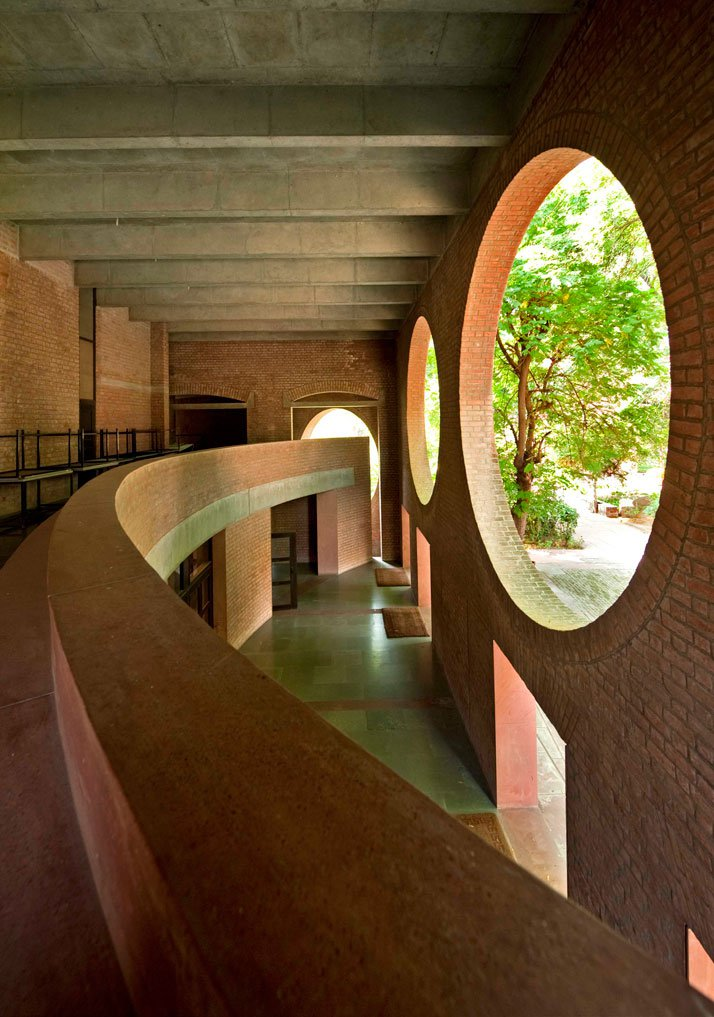 'Indian Institute of Management', Ahmedabad, designed by Louis Kahn, 1962–74.