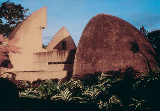 'Mityana Pilgrims' Centre Shrine' designed by Justus Dahinden, 1988.